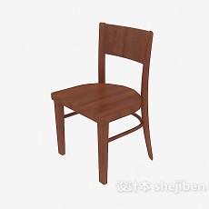 实木木椅3d模型下载