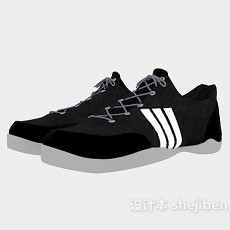 男士运动球鞋3d模型下载