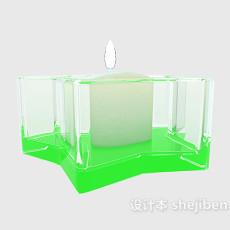 白色烛灯3d模型下载