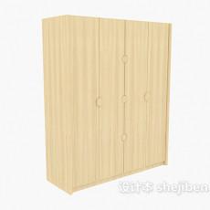 推拉三门衣柜3d模型下载