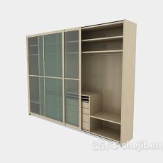 玻璃推拉门衣柜3d模型下载