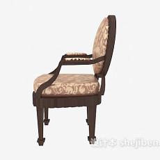 高档欧式古典餐椅3d模型下载