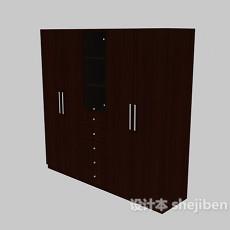 家庭衣柜3d模型下载