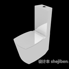 传统冲水马桶3d模型下载