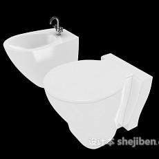 坐便器、洗手池3d模型下载
