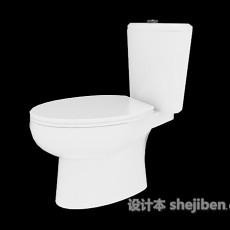 白色坐便器3d模型下载