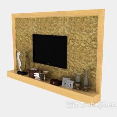 电视墙装饰3d模型下载