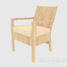 实木靠背家居椅3d模型下载