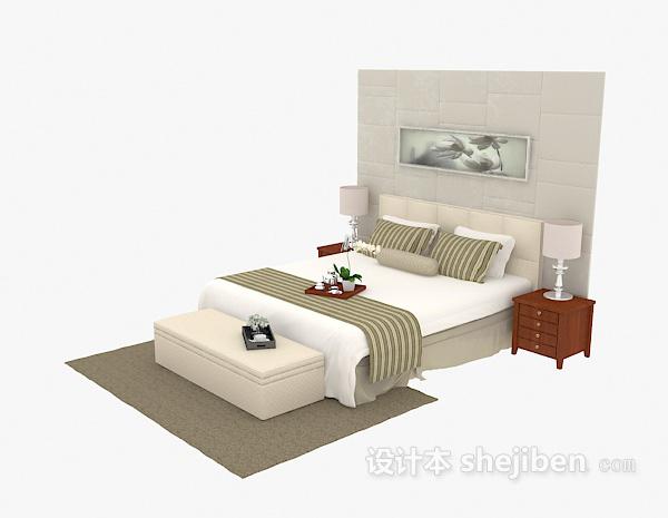 现代家居双人床