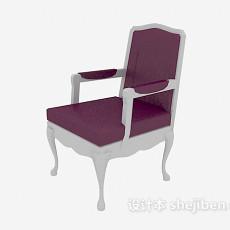 实木单人沙发椅3d模型下载