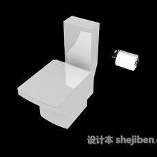 宾馆冲水马桶3d模型下载