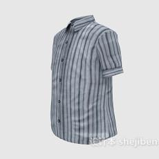 男士条纹短袖3d模型下载