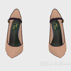 尖头高跟鞋3d模型下载