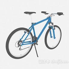 蓝色脚踏车3d模型下载