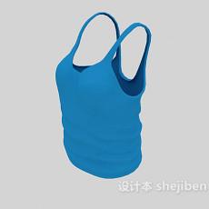 蓝色吊带衣3d模型下载
