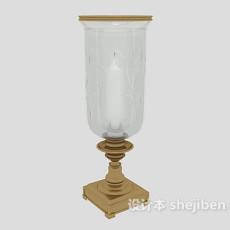 美式风格烛台灯3d模型下载