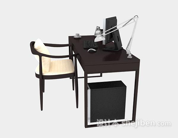 现代书桌电脑