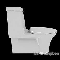 传统坐便器3d模型下载