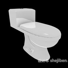 卫浴间马桶3d模型下载