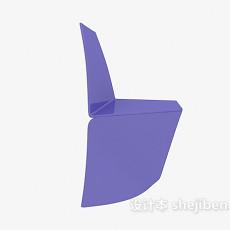 紫色塑料休闲椅3d模型下载