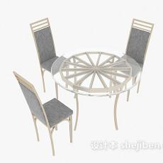 家居餐桌餐椅组合3d模型下载