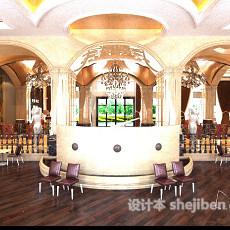 酒店服务台3d模型下载