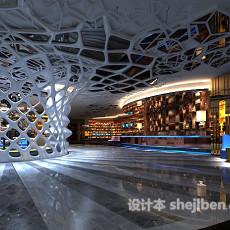 大型商场走廊3d模型下载