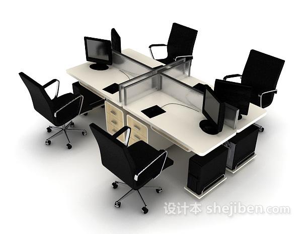 多人办公电脑桌