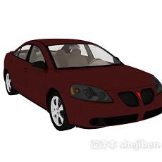 红色小轿车汽车3d模型下载
