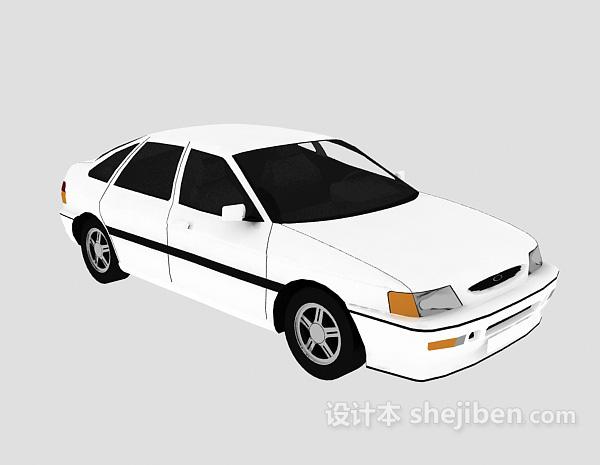 免费白色车辆3d模型下载