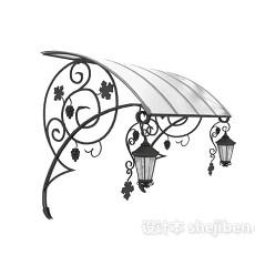 雨棚3d模型下载