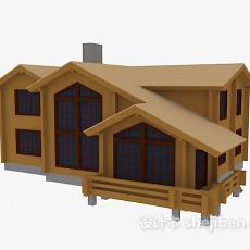 木屋别墅3d模型下载
