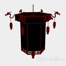 中式灯笼3d模型下载