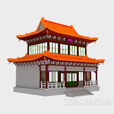 中式古典建筑3d模型下载