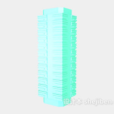 浮雕柱3d模型下载