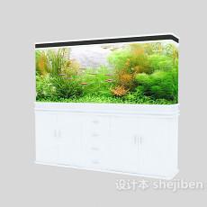 景观鱼缸3d模型下载