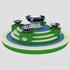景观喷泉3d模型下载