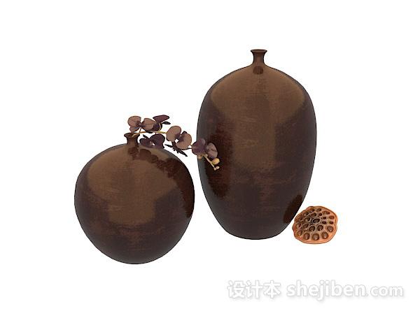 陶瓷花瓶3d模型下载