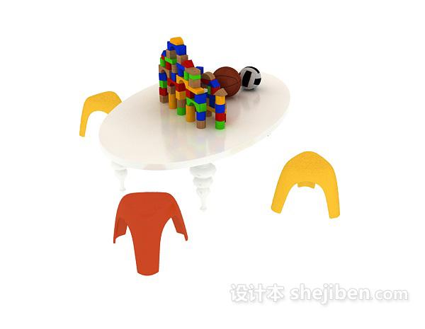 儿童玩具桌椅模型 3d模型下载