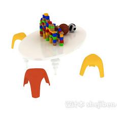 儿童玩具桌椅 3d模型下载
