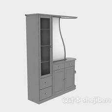 中式餐边柜子3d模型下载