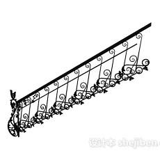 欧式楼梯扶手3d模型下载