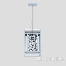 铁丝灯笼吊灯3d模型下载