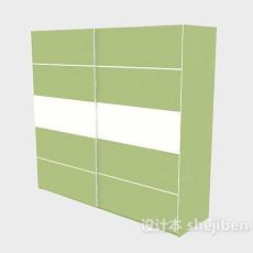 推拉门衣柜3d模型下载