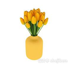 室内盆栽盆景装饰花3d模型下载