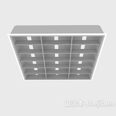 格栅盘灯3d模型下载
