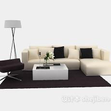 经典的现代简约沙发茶几组合3d模型下载