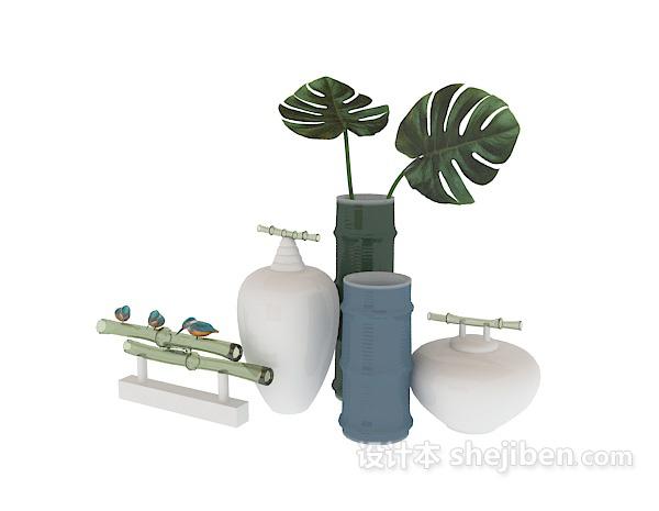 陶瓷饰品3d模型下载