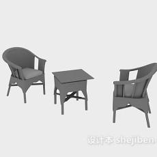 竹编椅子3d模型下载