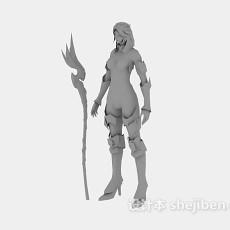 中国古代战士人物3d模型下载